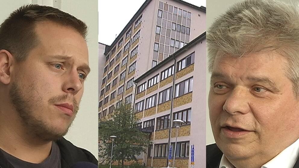 """Tobias Lindberg och Stefan Kanerva, """"Ådalen reser sig"""" – beredda att ta över Sollefteå sjukhus"""