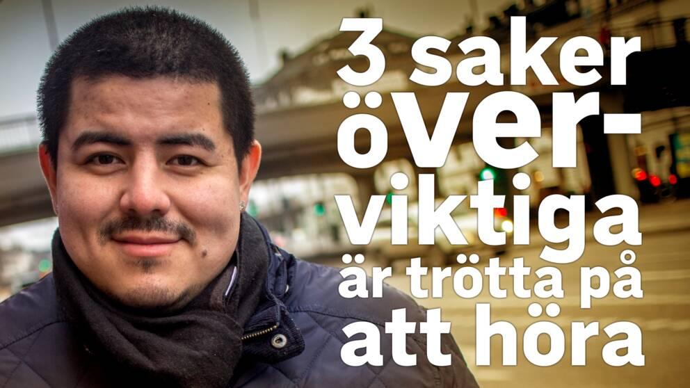 porträtt Orley Andreasson, rubrik: 3 saker överviktiga är trötta på att höra