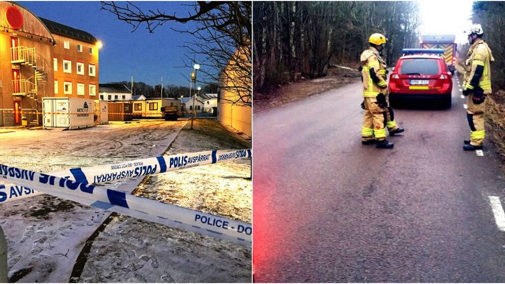 Polisen utreder eventuella samband mellan de båda bomberna vid två flyktingboenden i Göteborg.