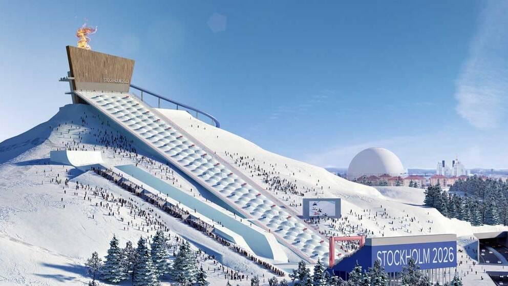 Förslag på hur Hammarbybacken kan byggas ut.