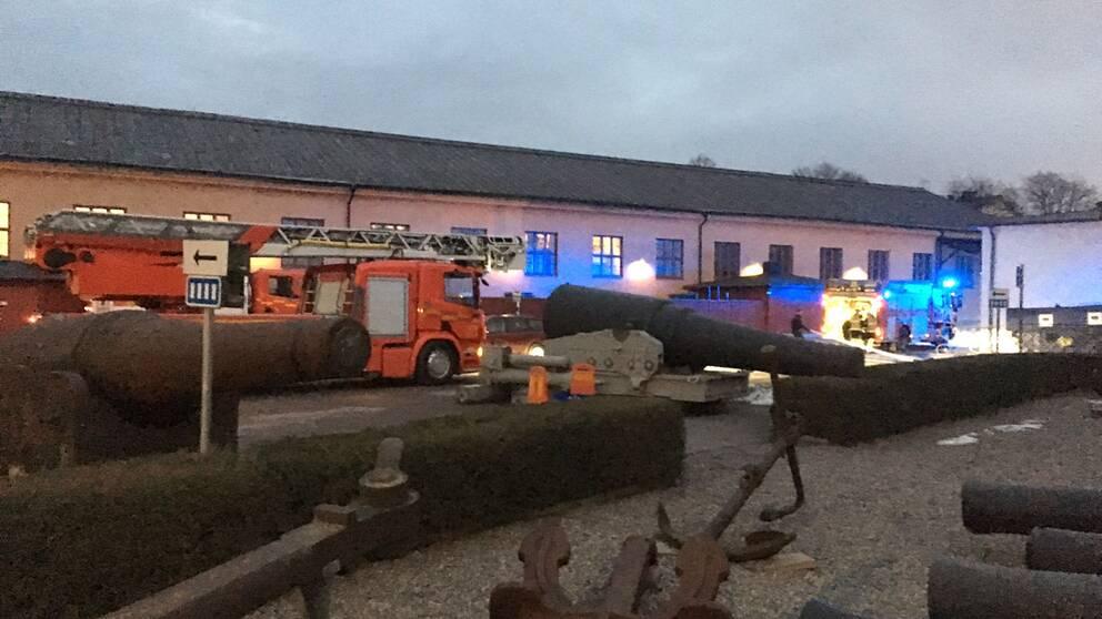 Sjöhistoriska museet fick evakueras på grund av en brand.