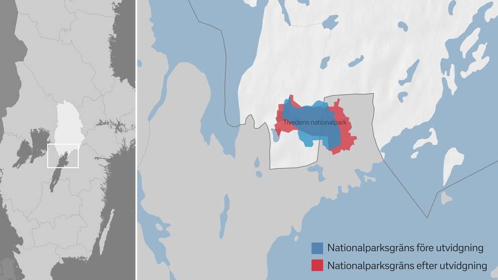 Karta Tivedens nationalpark