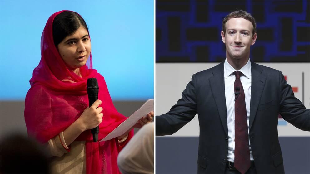 Malala och Mark Zuckerberg.