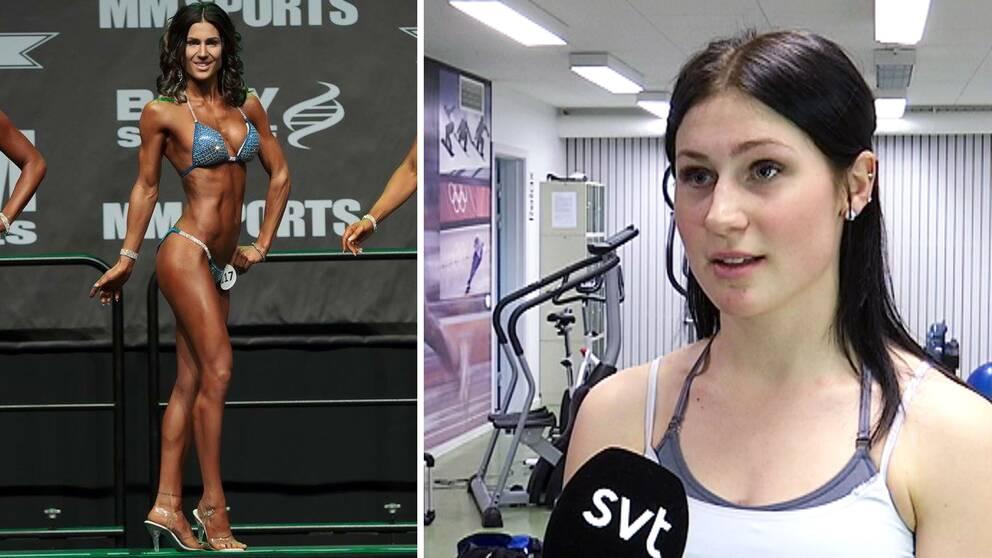 Hannah Larsson har tävlat i bikini fitness och tar starkt avstånd från dopning.
