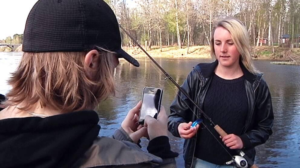 Elever med fiskespön