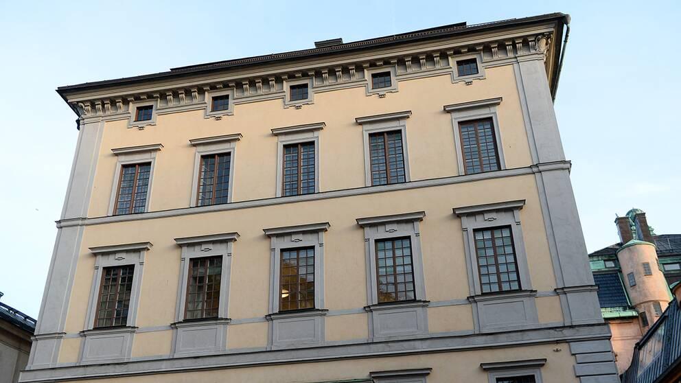 Statens fastighetsverks huvudkontor i Gamla stan i Stockholm. Arkivbild.