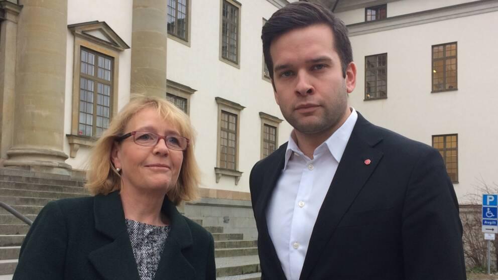 Irene Svenonius och Gabriel Wikström