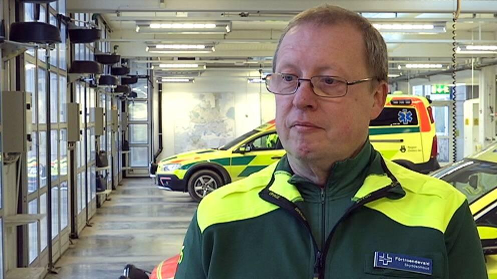 Hans Nilsson, skyddsombud och ambulanssjuksköterska i Örebro.