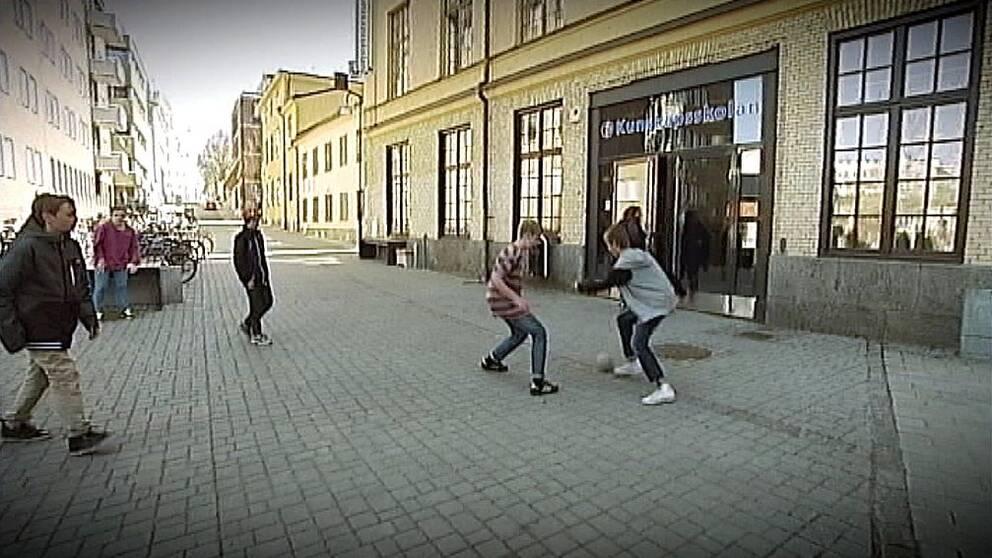 Skolgård. Kunskapsskolan i Norrköping.