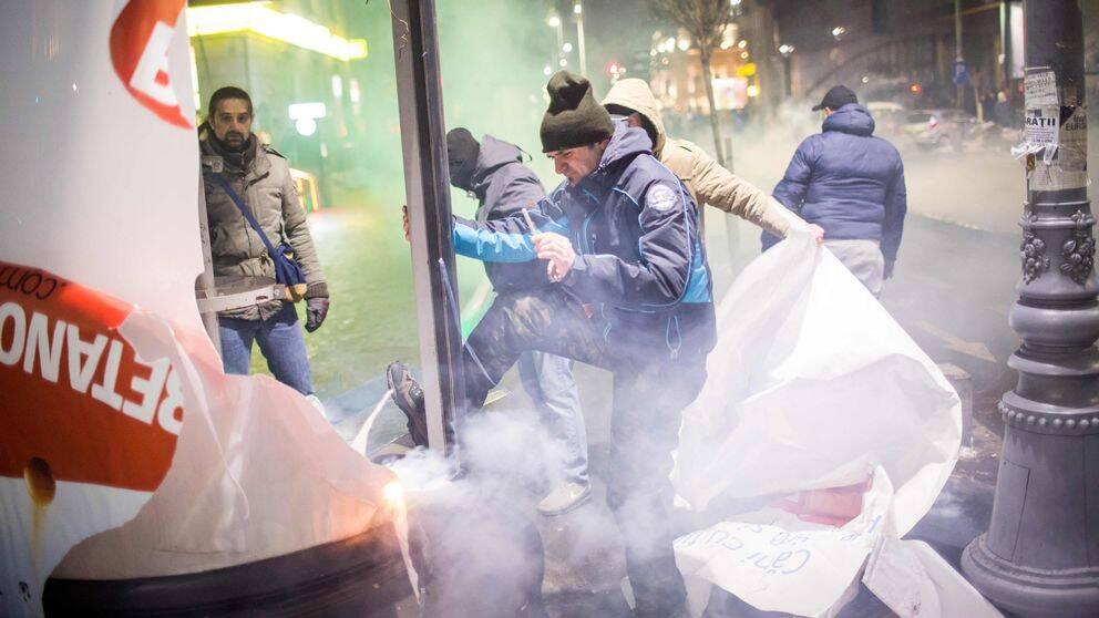 Protester i Rumänien