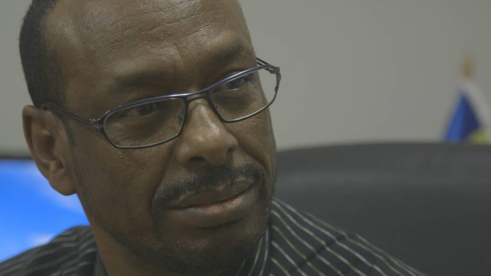 – Han sitter någonstans och säger att Per hjälper SD, det är helt fel, säger Jama Osman Ismail på Somalilands förening i Malmö.