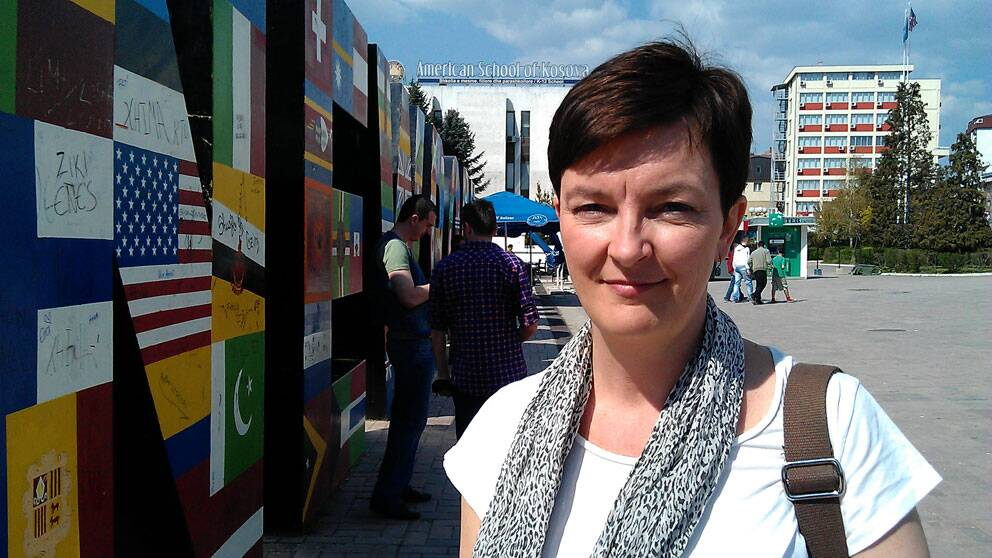 SVT:s Anna-Maja Persson i Mitrovica.