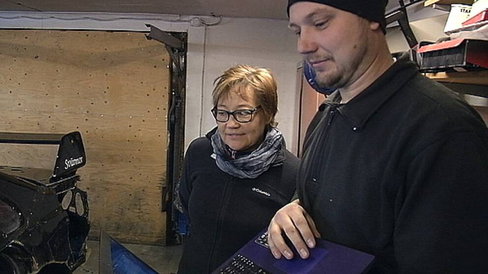 Joakim Bergström och mamma Ann-Sofie Brömster laddar för SM.
