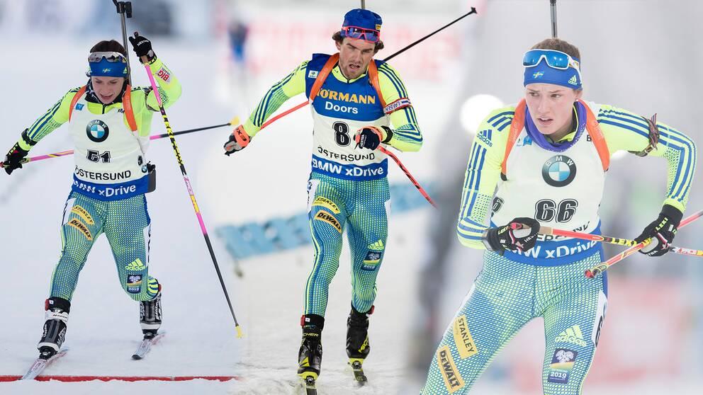 Följ svenskarnas framfart i skidskytte-VM i Hochfilzen.