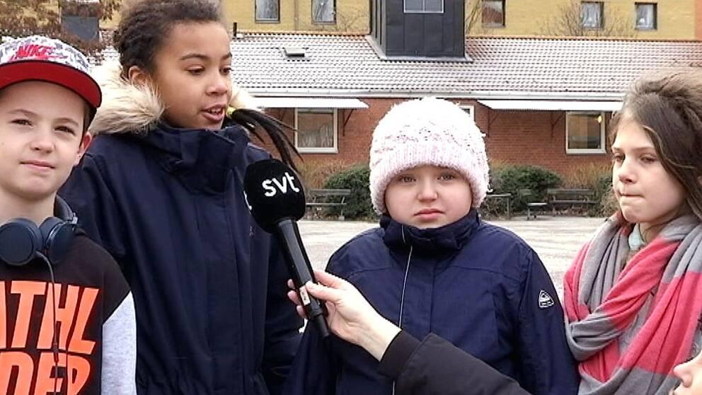 Elever på Hagaskolan i Norrköping