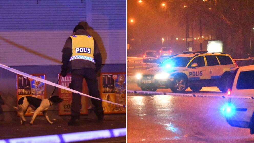 Polisen har spärrat av ett större område i Malmö där flera tomhylsor hittats.