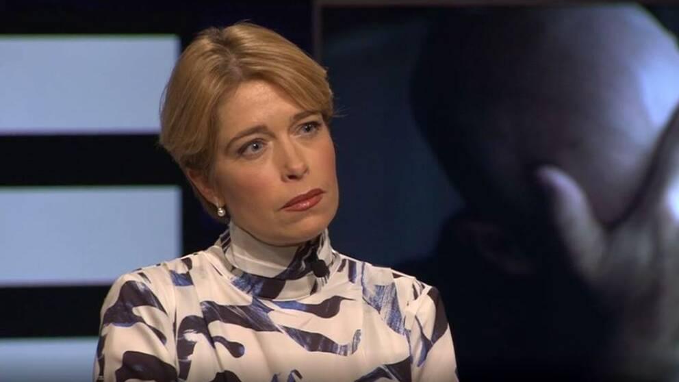 Socialförsäkringsminister Annika Strandhäll (S) i Agenda.