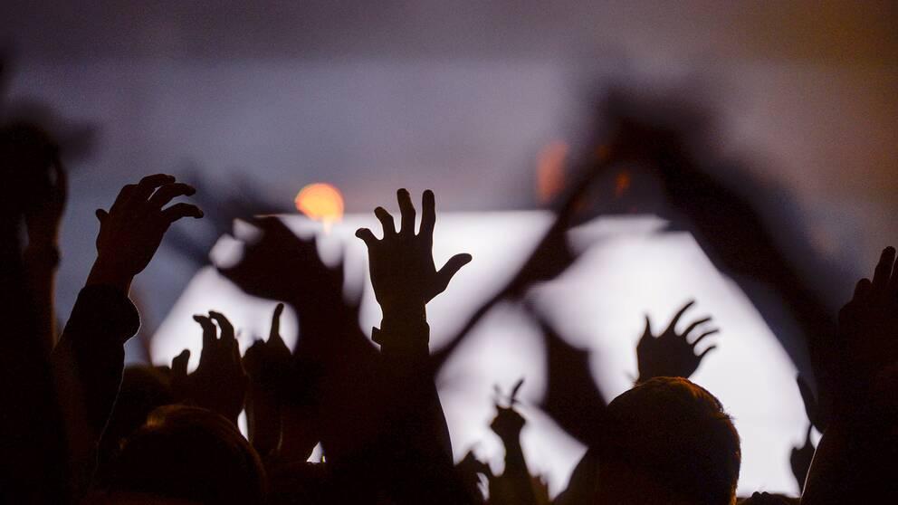 Konsert, publik,skugga, musik