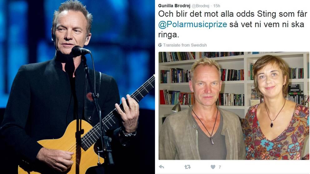 Sting och Gunilla Brodrej.