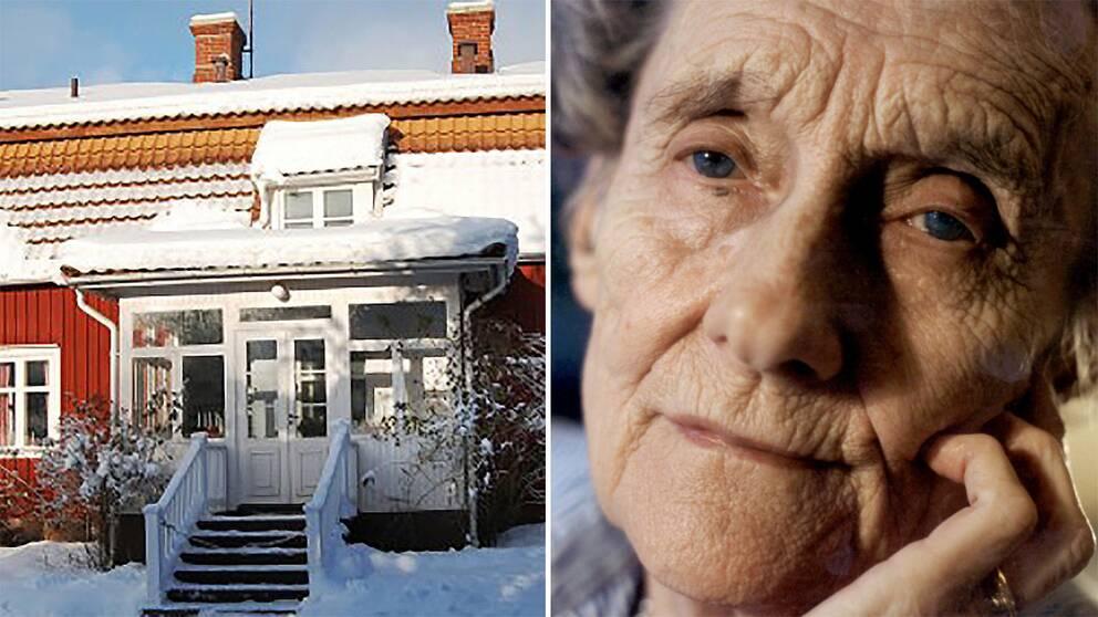 Astrid Lindgrens barndomshem och Astrid Lindgren.