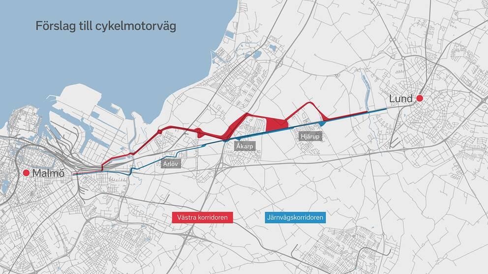 cykelmotorväg Malmö Lund