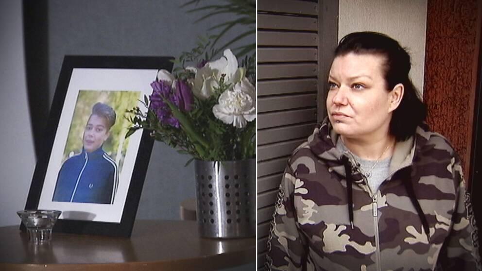 Carolina Sinisalo förlorade sin 15-åriga son Robin när han sköts till döds utanför deras port i Akalla.