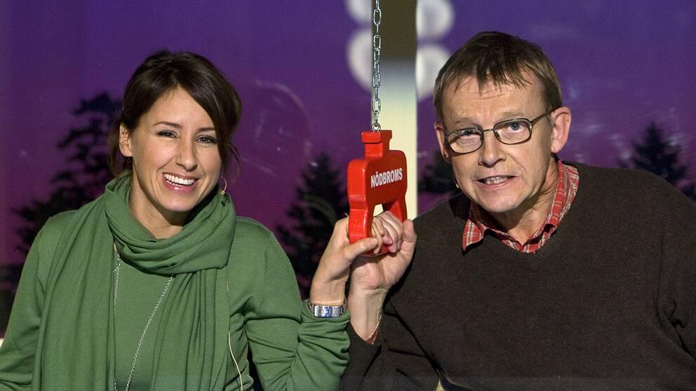 Doreen Månsson och Hans Rosling i På spåret 2009.