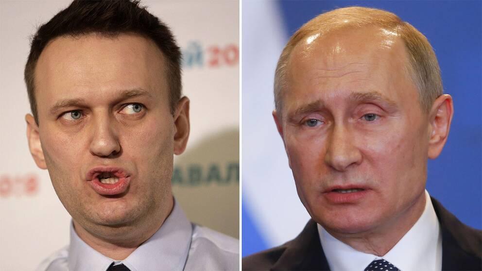 Aleksej Navalnyj och Vladimir Putin.