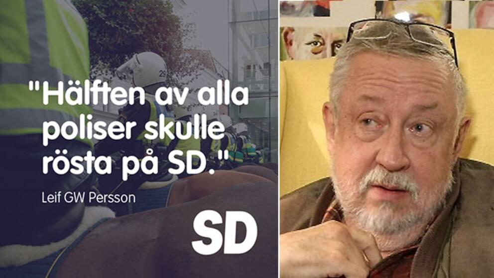 Sverigedemokraterna plockade upp Leif GW Perssons uttalande på partiets Facebooksida