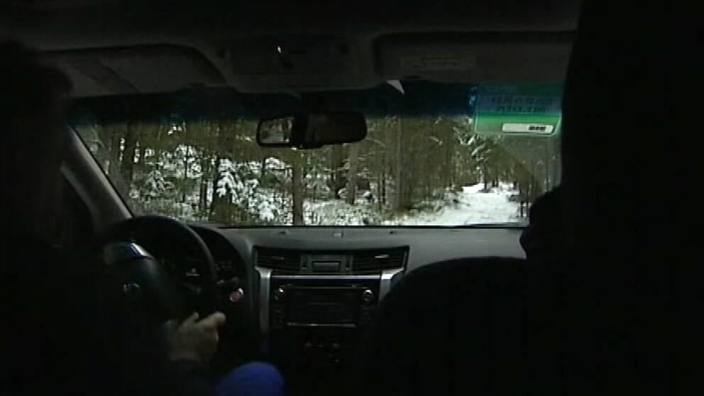 Inifrån SVTs bil, panel