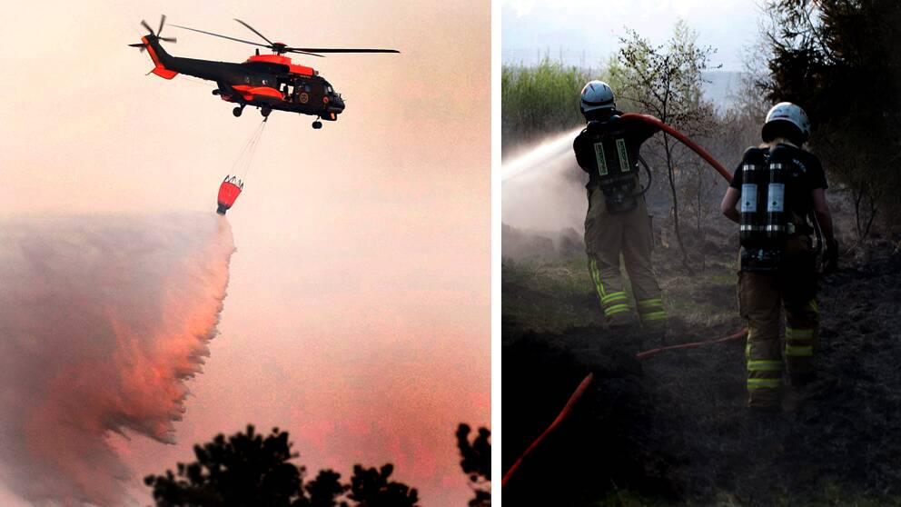 Militär kallas in för att släcka brand