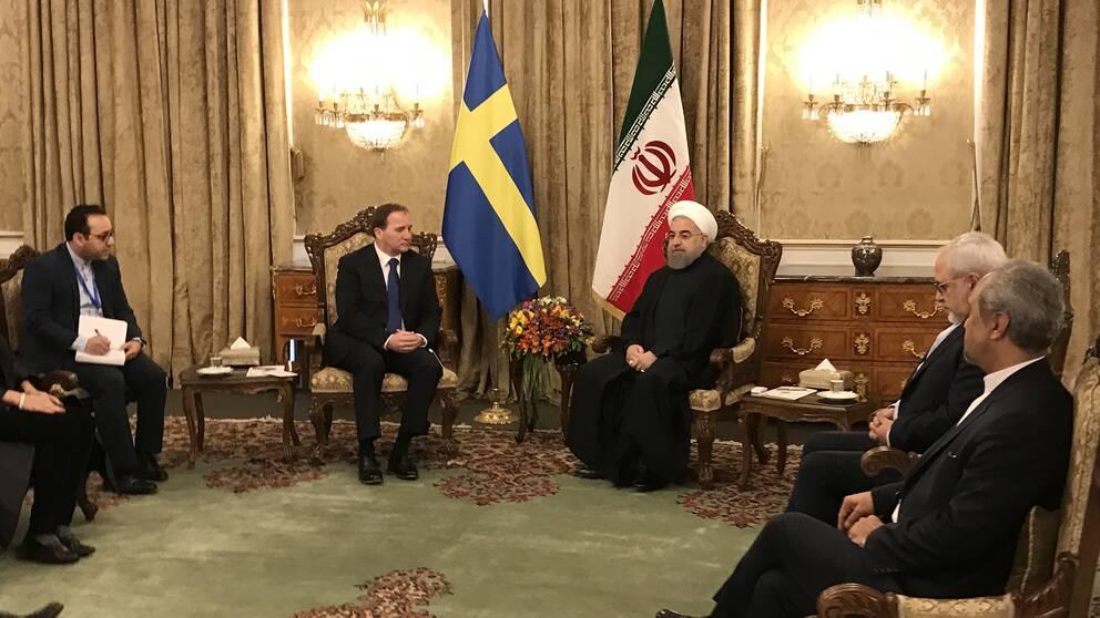 Stefan Löfven möter Irans president.