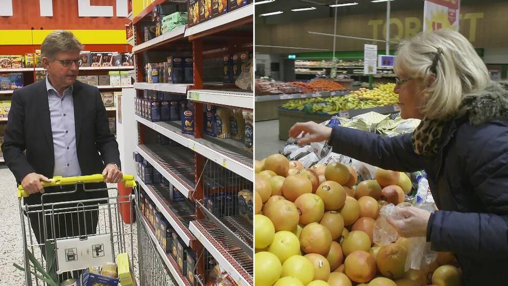 Sven Lindgren, ordförande i Civilförsvarsförbundet, säger att livsmedelsbutikerna är det enda beredskapslager Sverige har vid en kris.
