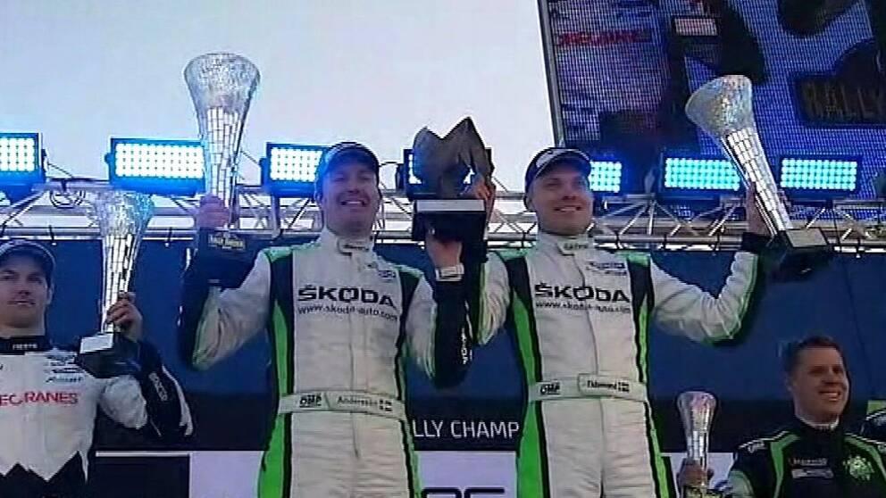 Jonas Andersson och Pontus Tidemand vann Svenska rallyt WRC2