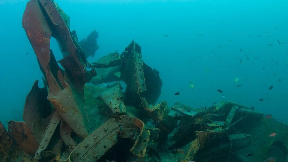 Det är bara spillror kvar av vad som en gång var en populär dykplats.