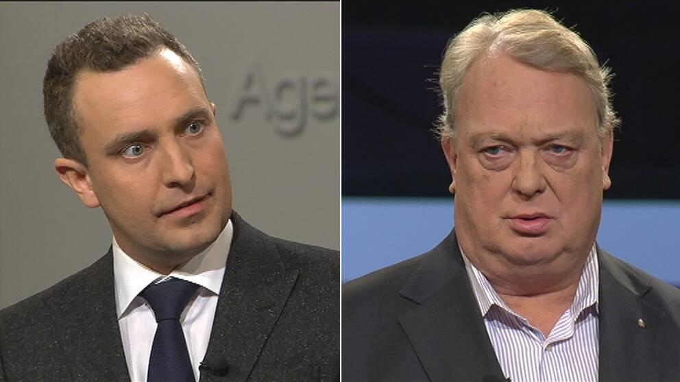 Tomas Tobé, partisekreterare (M) och Mikael Odenberg (M) , fd försvarsminister