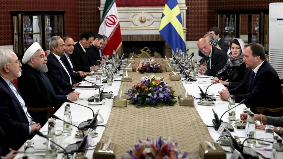 Löfven och Linde var på besök i Iran.