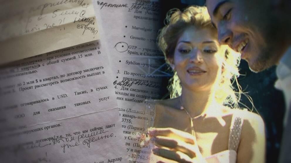 Dokument med anteckningar som ska ha skrivits av Gulnara Karimova.