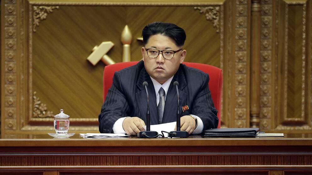 Diktatorn Kim Jong-un uppges ha närvarat vid testet.