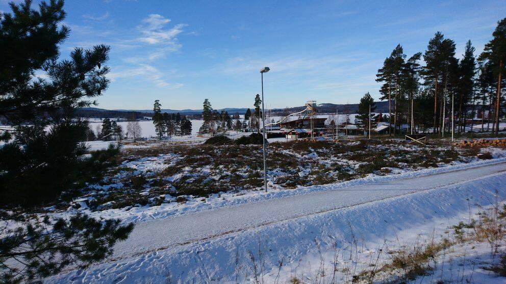 Kalhygge framför Leksand sommarland