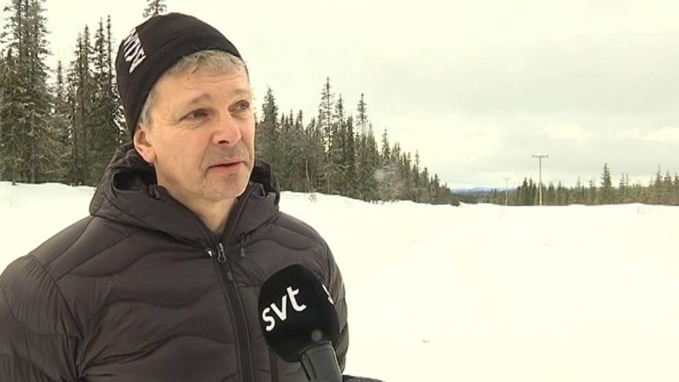 Anders Pettersson, allmänningsförvaltare för Tärna-Stensele och Sorseles allmänningsskog, skog