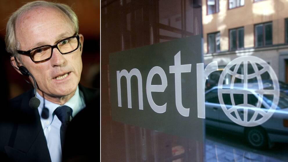 Finansprofilen Mats Qviberg köper gratistidningen Metro.