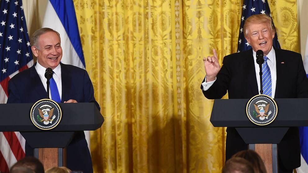 Trump och Netanyahu