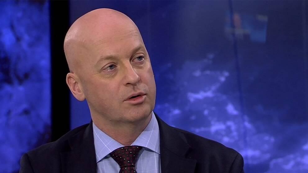 Mike Winnerstig,säkerhetspolisk analytiker på Totalförsvarets forskningsinstitut, i Aktuellt.