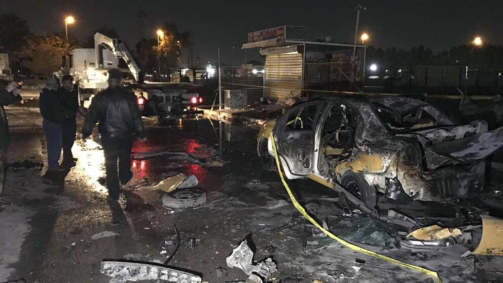 Bilbomb mot polisstation i irak