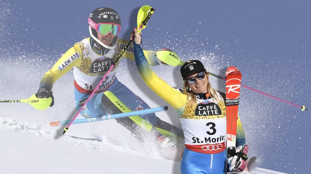 Frida Hansdotter tog överraskande slalom brons efter ett starkt andra åk.
