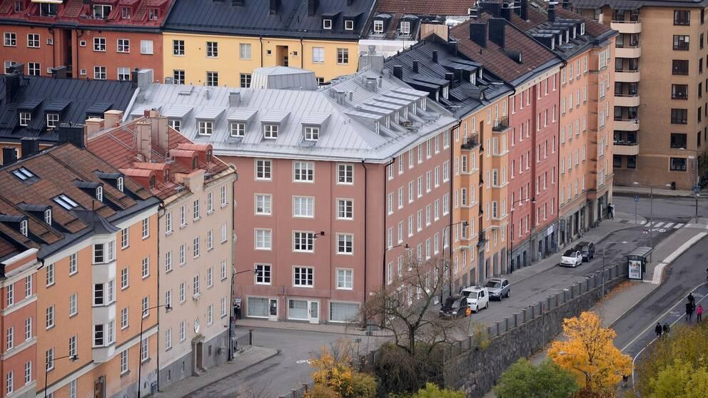 Bostadshus på Södermalm sett uppifrån