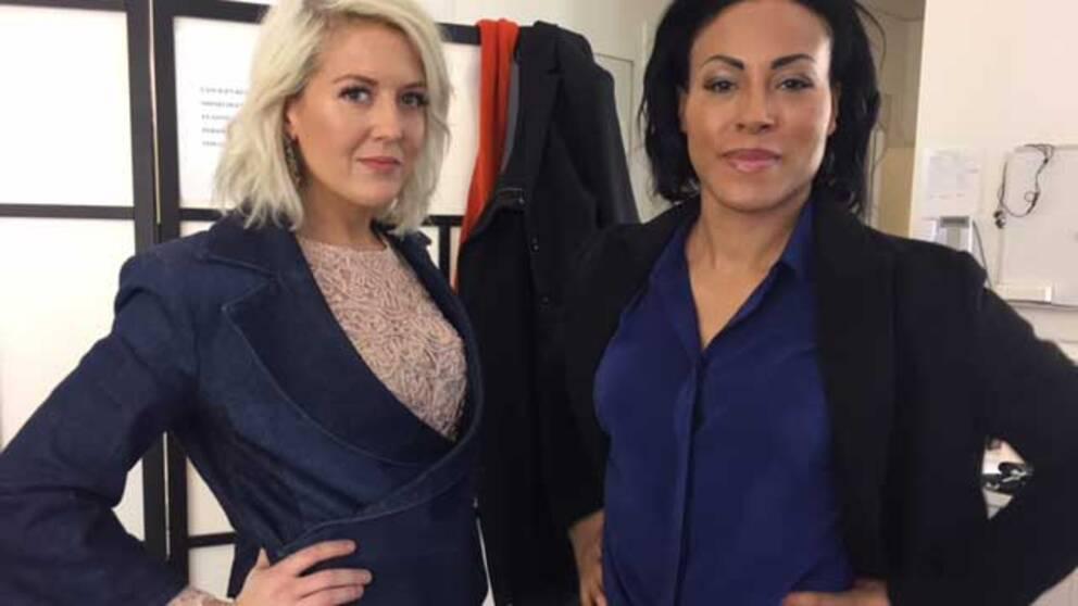 Om fyra dagar möts Klara Svensson och Cecilia Braekhus i ringen. I dag möttes de i SVT:s Gomorron.
