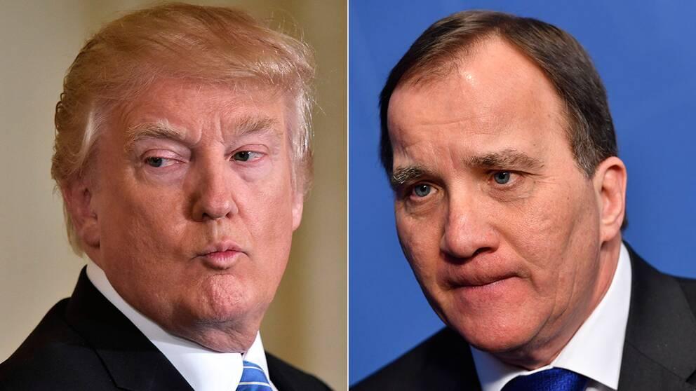 Donald Trump och Stefan Löfven