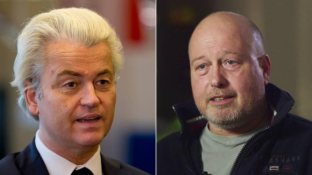 Geert Wilders Frihetsparti kommer att få rörmokaren Edwins röst i valet i Nederländerna.